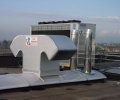 Particolare di impianto aeraulico con gruppo frigo